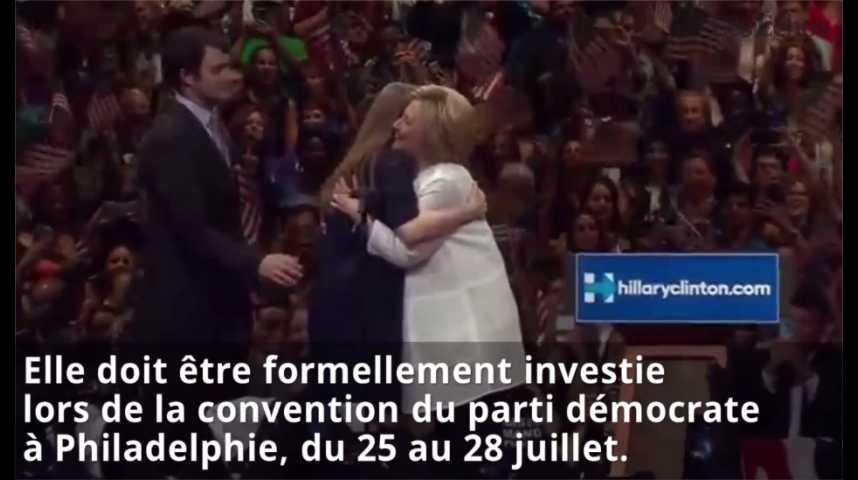 Illustration pour la vidéo Primaire démocrate : Clinton revendique sa victoire, Sanders continue le combat