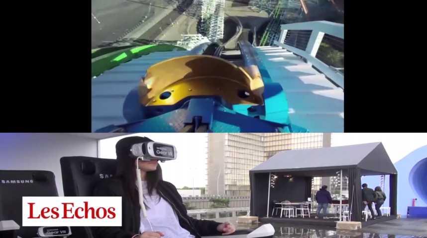 Illustration pour la vidéo Dans les coulisses du premier parc d'attractions de réalité virtuelle à Paris
