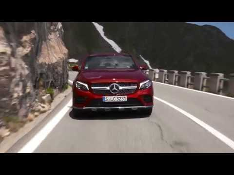 Mercedes-Benz GLC 350 d 4MATIC Coupe - Driving Video in Red Metallic | AutoMotoTV