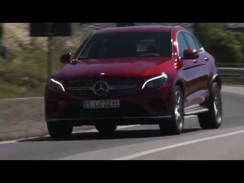 Mercedes-Benz GLC 350 d 4MATIC Coupe - Driving Video in Red Metallic Trailer | AutoMotoTV