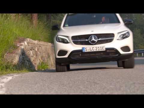 Mercedes-Benz GLC 350 e 4MATIC Coupe - Driving Video in Diamond White Bright Trailer | AutoMotoTV