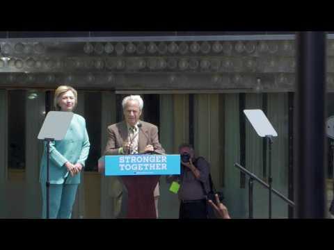 Clinton Mocks Trump and Christie at Atlantic City Rally