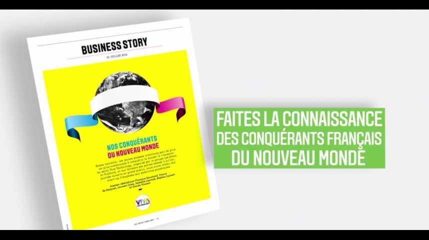 Illustration pour la vidéo Les Echos Week-End : les conquérants français du nouveau monde