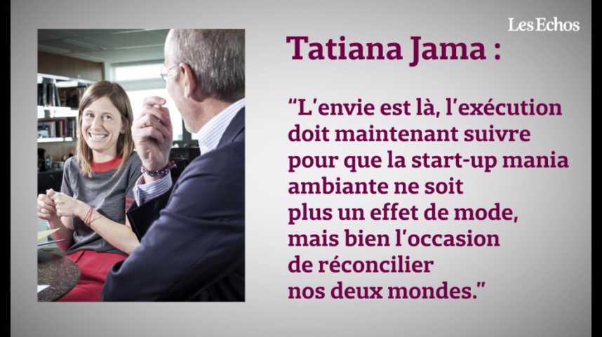 Illustration pour la vidéo Tatiana Jama et Stéphane Richard : « La start-up mania ne doit pas être qu'un effet de mode »