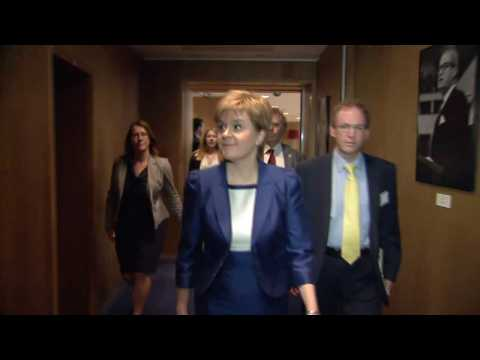 Scotland's Sturgeon Meets Juncker to Discuss Brexit Fallout