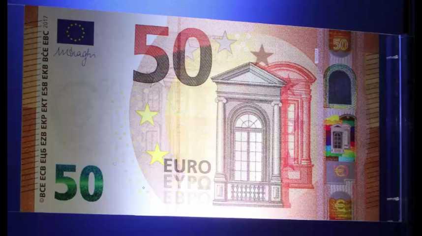 Illustration pour la vidéo Découvrez le nouveau billet de 50 euros