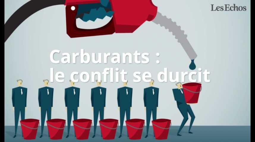 Illustration pour la vidéo Carburants : le conflit se durcit