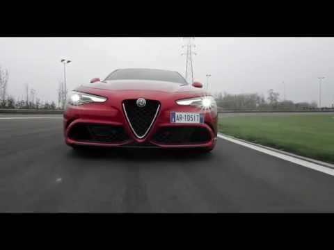 Alfa Romeo Giulia Quadrifoglio Driving on track | AutoMotoTV