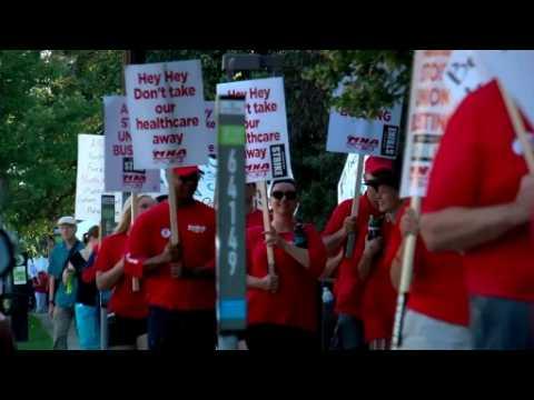 Minnesota nurses strike over health insurance