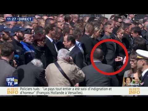 Un policier a-t-il refusé de serrer la main de Hollande et Valls pendant l'hommage aux victimes de Magnanville ?