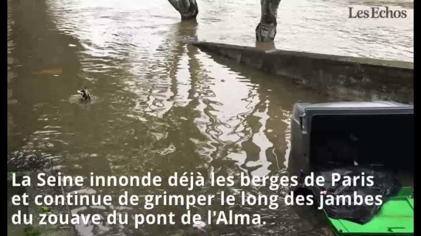 Illustration pour la vidéo Inondations : pic de crue attendu à Paris, branle-bas de combat dans les musées