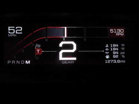 All-new Ford GT Supercar's digital instrument display   AutoMotoTV