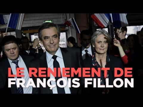 Candidat et mis en examen : le reniement de François Fillon