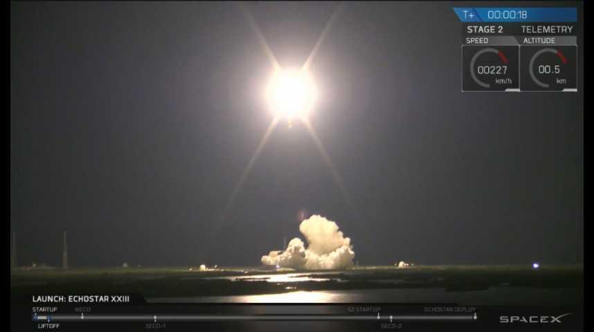Illustration pour la vidéo Nouveau lancement réussi pour SpaceX