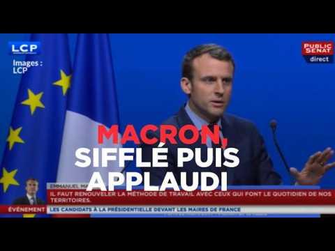Sifflé puis applaudi : le show de Macron devant les maires
