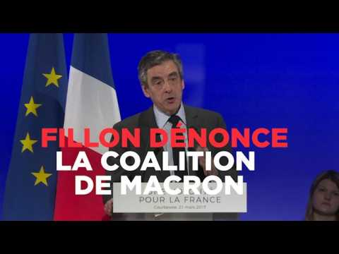 """Fillon dénonce un Macron à la """"coalition branlante"""""""