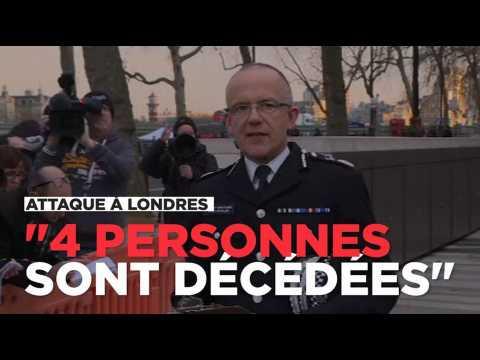 """Attaque à Londres: """"4 morts dont un policier"""" et l'assaillant"""