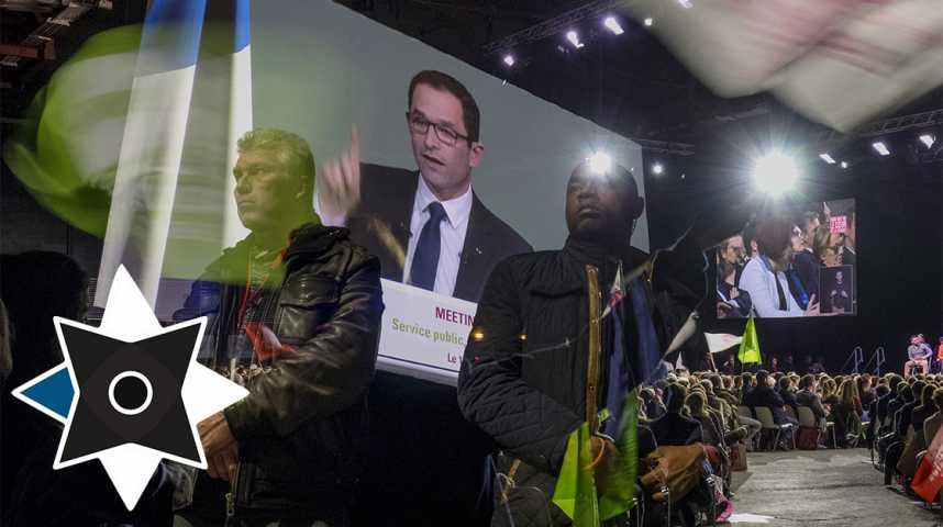 Illustration pour la vidéo Portraits de campagne en Bretagne: Hamon dans le dur de la campagne
