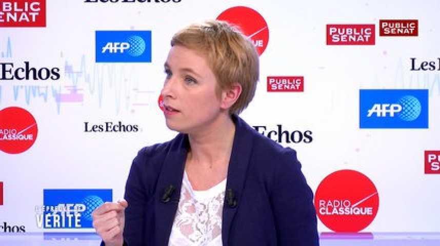 """Illustration pour la vidéo Hamon-Mélenchon : """"On n'avait pas de méthode pour dire lequel des deux devait se retirer"""", explique Clémentine Autain"""