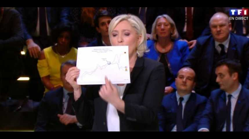Illustration pour la vidéo Quelle valeur accorder au graphique brandi par Marine Le Pen lors du débat ?