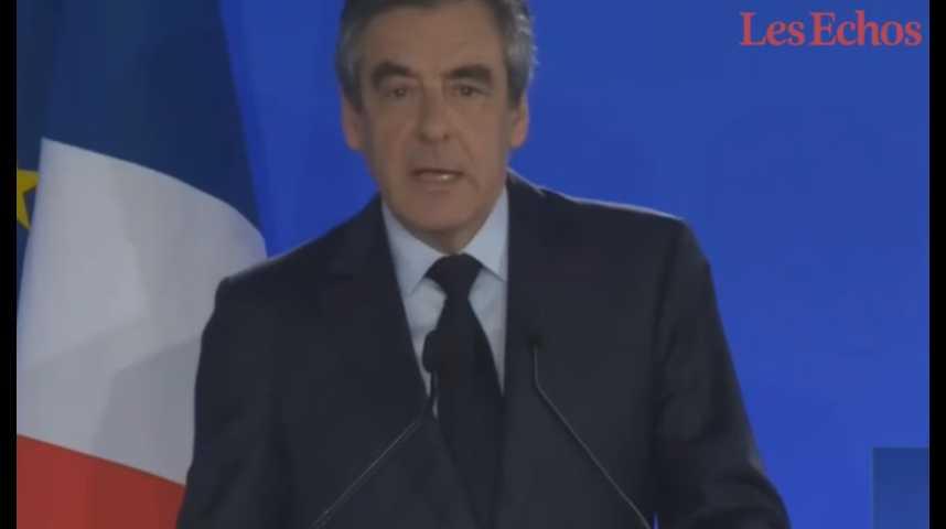 """Illustration pour la vidéo François Fillon """"assume"""" et appelle à voter Emmanuel Macron"""