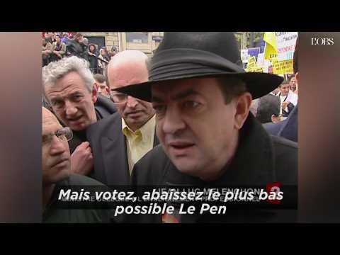 """En 2002, Mélenchon appelait à """"abaisser le plus bas possible Le Pen"""" au 2nd tour de l'élection présidentielle"""