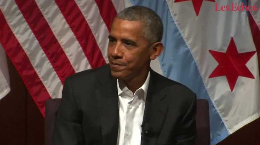 Illustration pour la vidéo Pour son retour sur le devant de la scène, Obama s'adresse aux jeunes générations