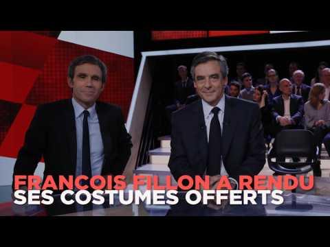 "Fillon : ""J'ai rendu les costumes"" offerts par Robert Bourgi"