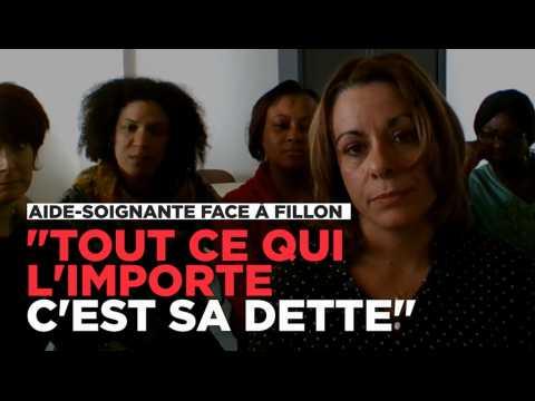 """Aide-soignante face à Fillon : """"Tout ce qui lui importe, c'est sa dette"""""""