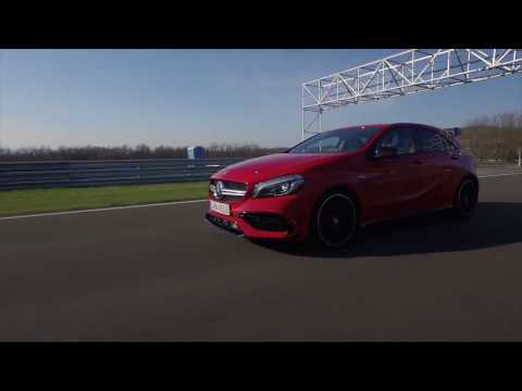 Mercedes-AMG A 45 4MATIC Driving Video in jupiter red Trailer | AutoMotoTV