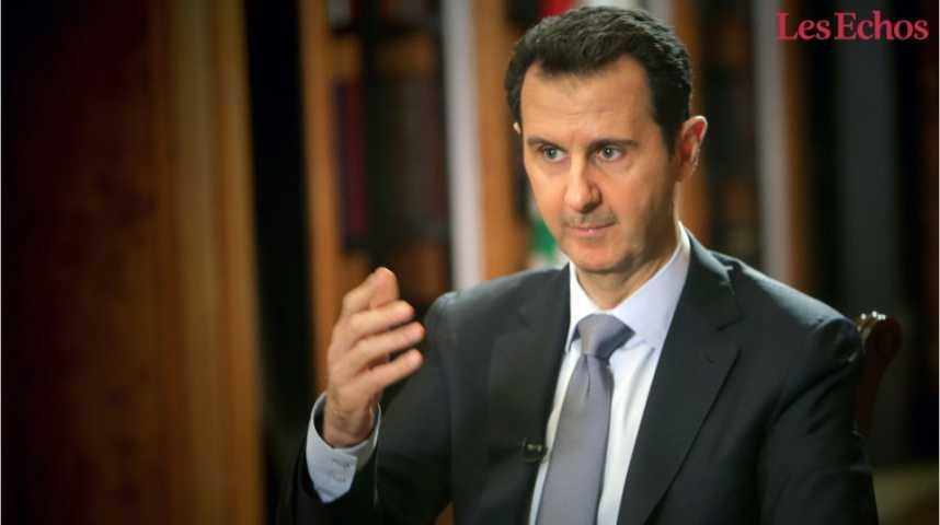 Illustration pour la vidéo Assad décline toute responsabilité dans l'attaque chimique