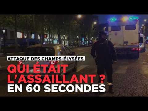 Fusillade sur les Champs-Élysées : qui était l'assaillant, en 60 secondes