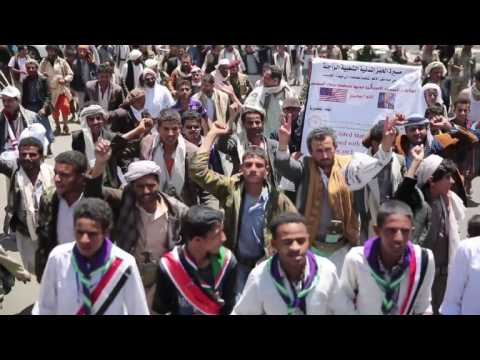 Yemenis on 'humanitarian march' to protest war