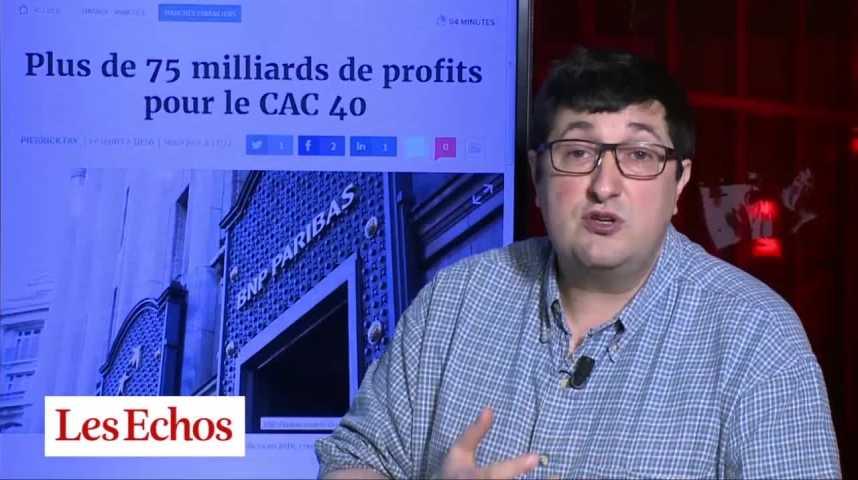Illustration pour la vidéo Plus de 75 milliards de profits pour le CAC 40 en 2016
