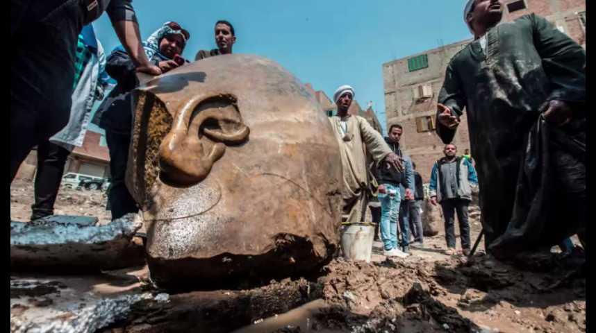 Illustration pour la vidéo La statue découverte au Caire n'était finalement pas celle de Ramsès II