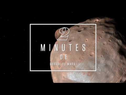 Deux minutes de survol de la planète Mars