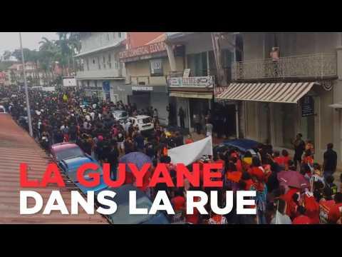 Grandes marches de contestation en Guyane