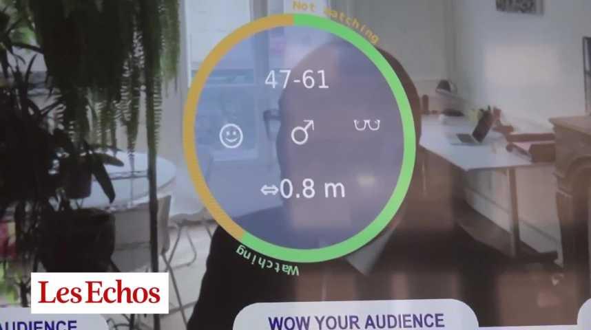 Illustration pour la vidéo Avec Quividi, les écrans publicitaires vous regardent
