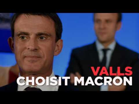 Valls trahit Hamon et soutient Macron