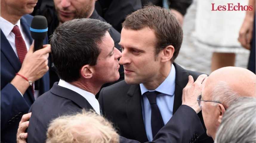 Illustration pour la vidéo Valls soutient Macron : les réactions en tweets