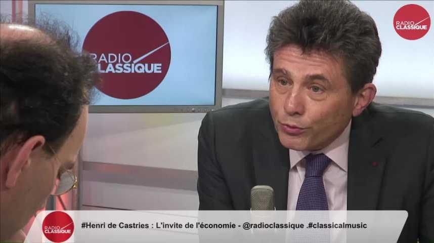 """Illustration pour la vidéo """"François Fillon élu, notre croissance va repartir pour rentrer dans la moyenne européenne"""" Henri de Castries (13/03/2017)"""