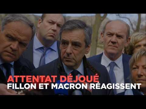 Attentat déjoué : peut-être visés, Fillon et Macron réagissent
