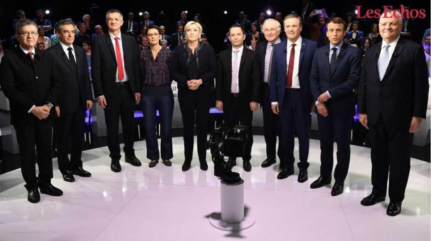 Illustration pour la vidéo Mode d'emploi de l'émission politique avec 11 candidats