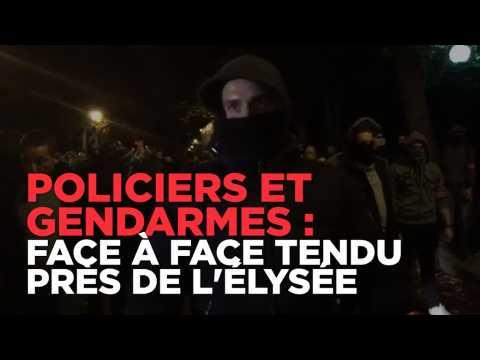Echanges tendus entre policiers et gendarmes devant l'Elysée