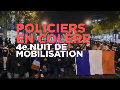 4e nuit de mobilisation pour des policiers toujours plus remontés