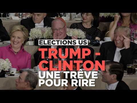 Trump - Clinton : hilarant festival de blagues et d'autodérision
