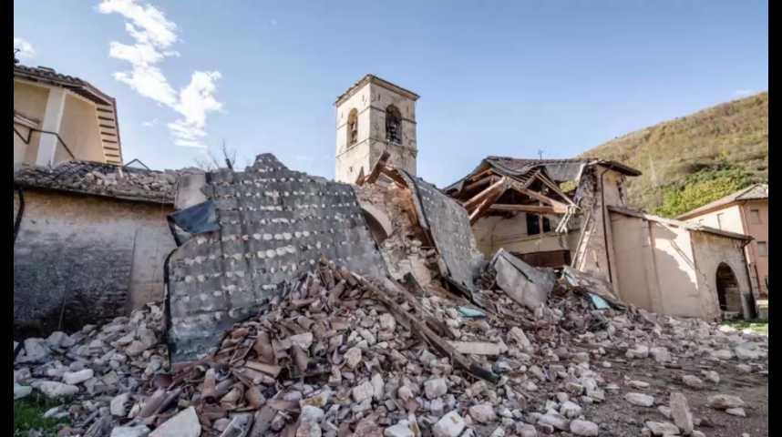 Illustration pour la vidéo L'Italie de nouveau touchée par un séisme
