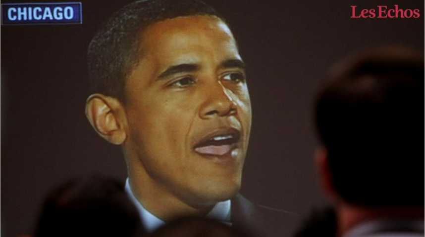 Illustration pour la vidéo Barack Obama : huit années au pouvoir en huit chiffres