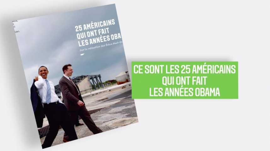 Illustration pour la vidéo Les Echos Week-End : 25 Américains qui ont fait les années Obama