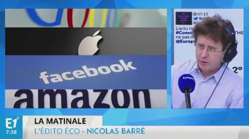 Illustration pour la vidéo Le ton monte entre l'Europe et les géants américains de la Silicon Valley